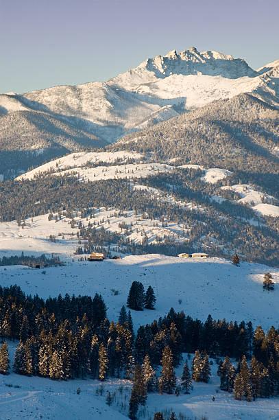 Winter Mountain View stock photo