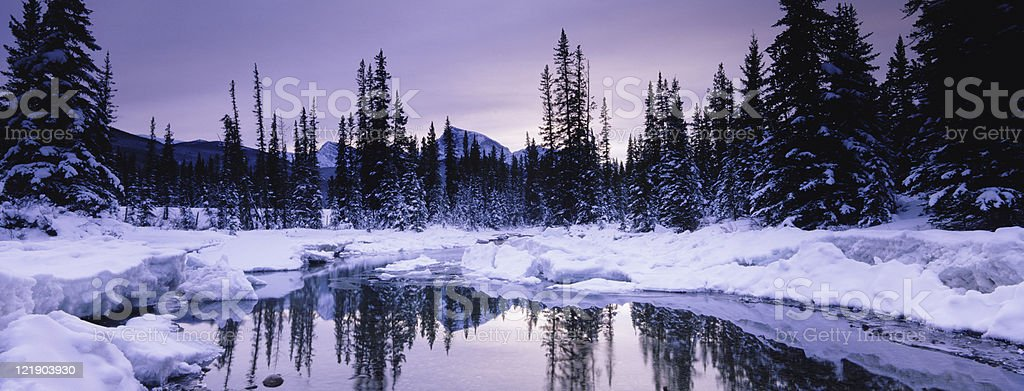 Winter Mountains in the Rockies royalty-free stock photo