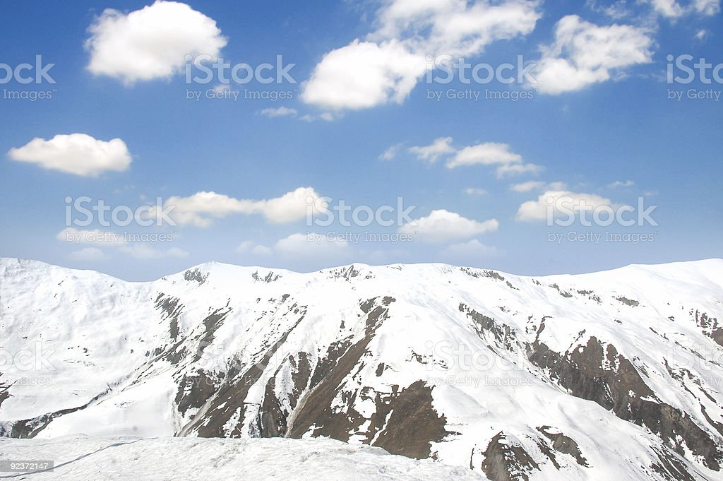 Winter mountains on a bright sunny day royalty-free stock photo