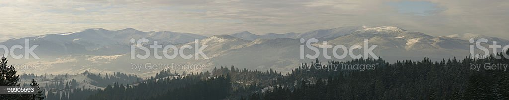 Winter mountains panorama royalty-free stock photo