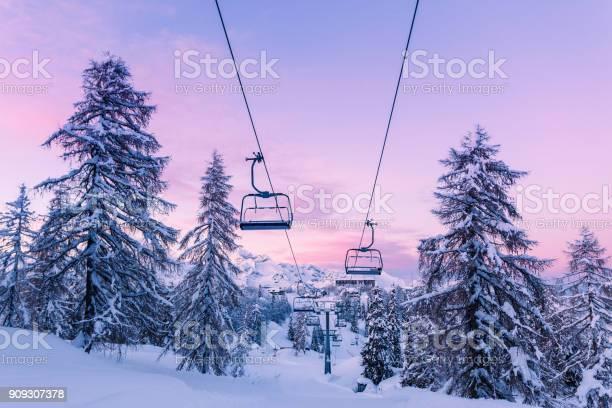 Winter mountains panorama with ski slopes and ski lifts picture id909307378?b=1&k=6&m=909307378&s=612x612&h=suiwgomwwnplomqtviyfrwslisdcfndj2phrz84ihww=