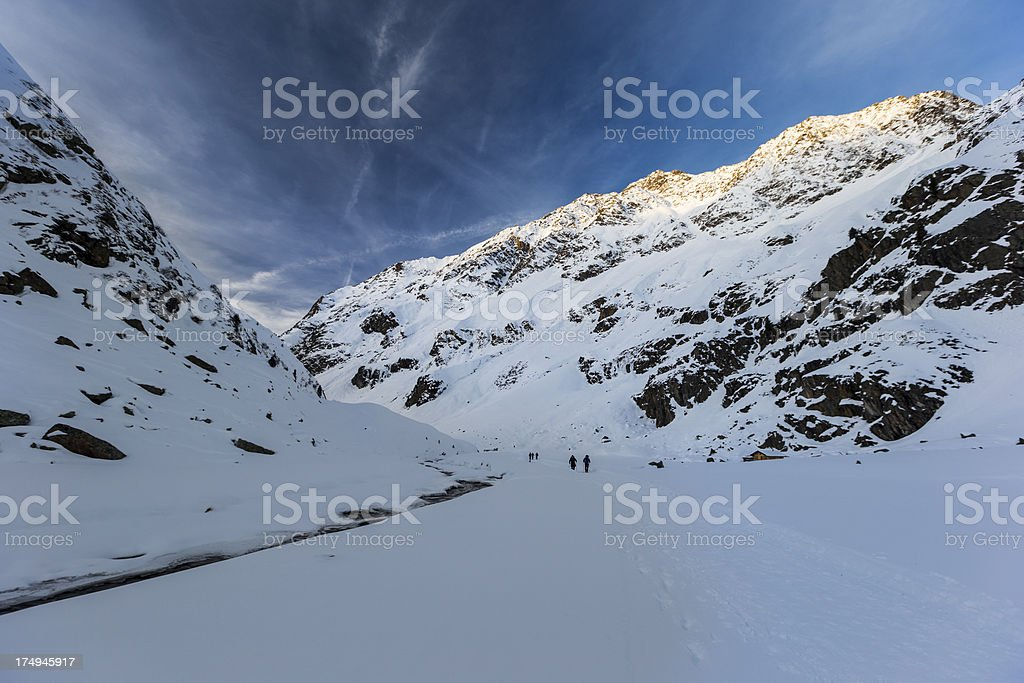 Winter mountains stock photo