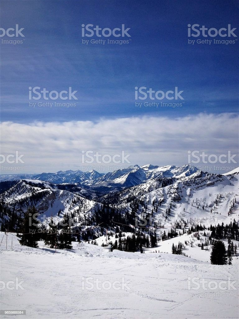 Winter-Berge - Lizenzfrei Berg Stock-Foto