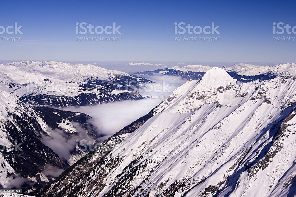 winter mountains view royalty-free stock photo