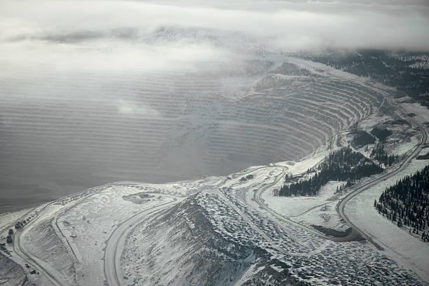 Winter Mountainside stock photo
