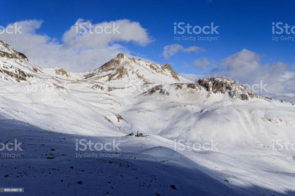 Winter mountian stock photo