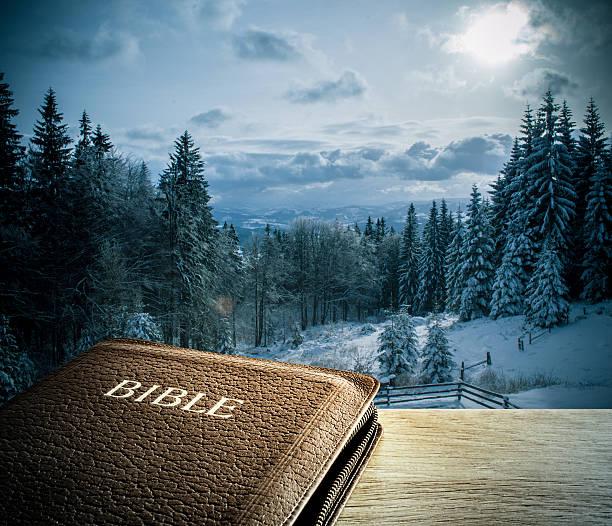 Winter Natur, Landschaften mit Bibel – Foto