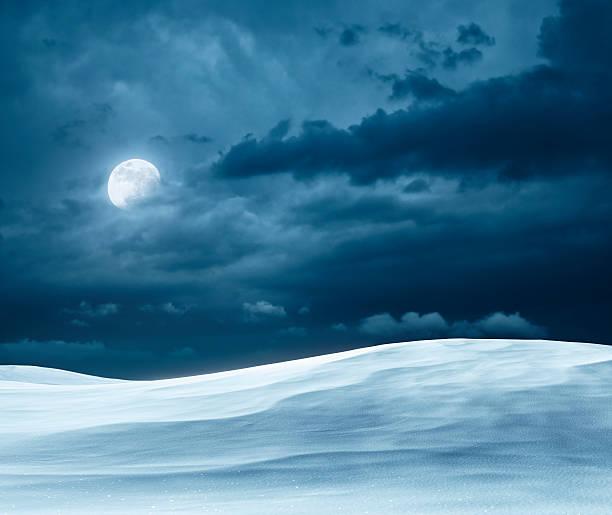 Winter-Nacht – Foto