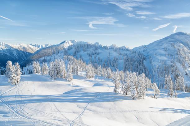 winter north cascades - góry kaskadowe zdjęcia i obrazy z banku zdjęć