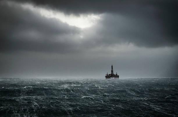 Inverno do mar do Norte - foto de acervo