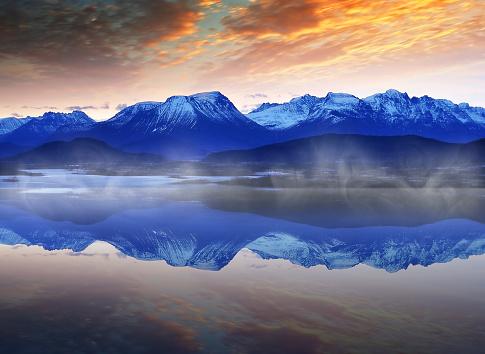 Winter Norwegian Landscape Stockfoto und mehr Bilder von Alesund