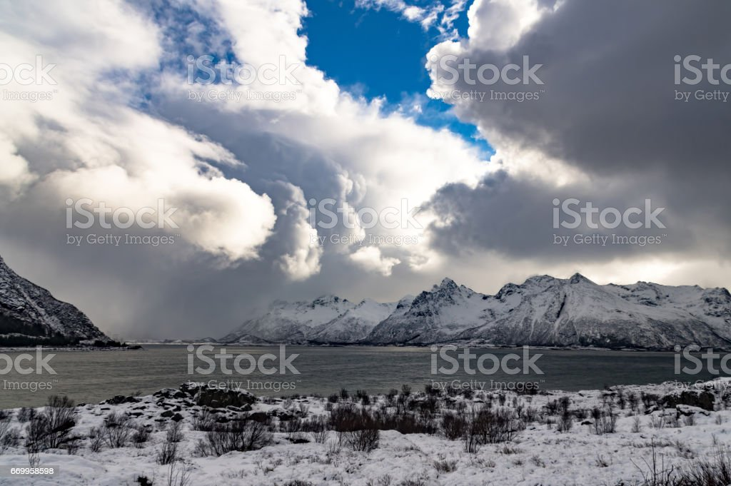 Winter of Norway royalty-free stock photo