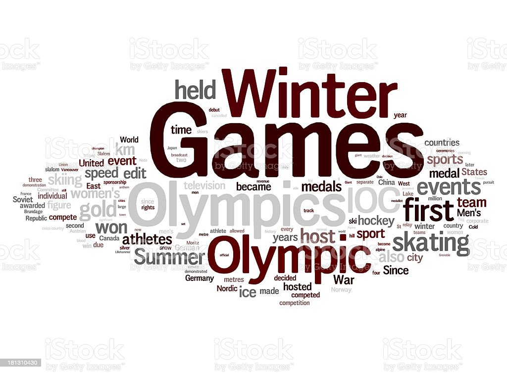 Winter Olympic Games stock photo