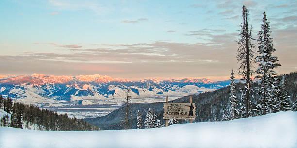 Winter on Teton Pass stock photo
