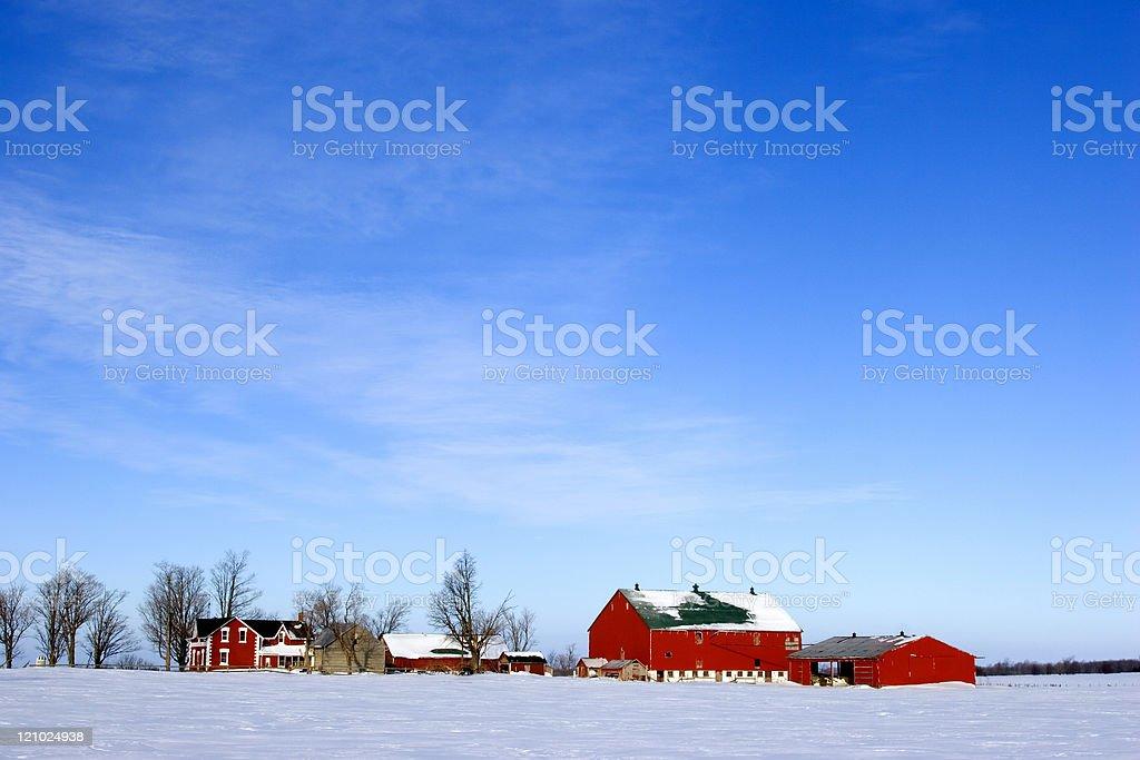 Winter on the homestead stock photo
