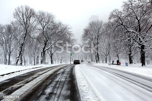 istock Winter on the Streets of Manhattan 488090714