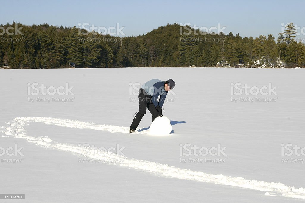 Winter Outdoor Fun royalty-free stock photo