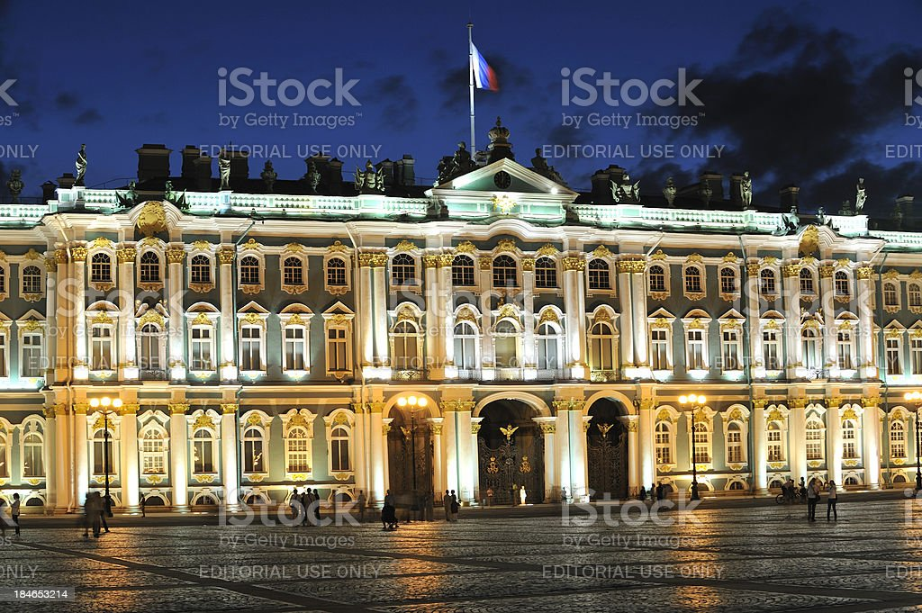 Winter Palace at Night stock photo