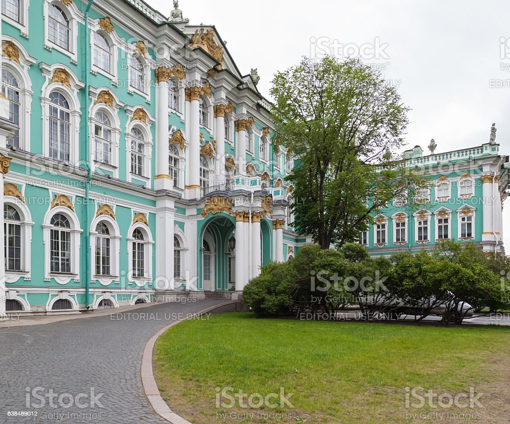 Winter Palace in Saint Petersburg, Russia stock photo