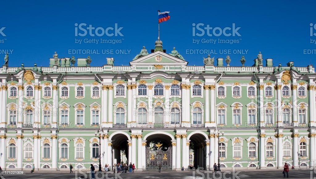 Winter Palace, St Petersburg, Russia stock photo