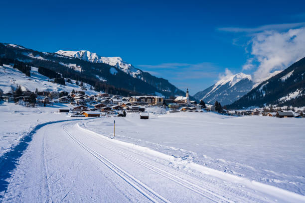 Winter Panorama-Langlaufloipe – Foto
