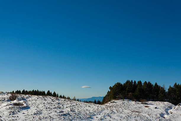 panorama invernale delle Alpi italiane in - foto stock