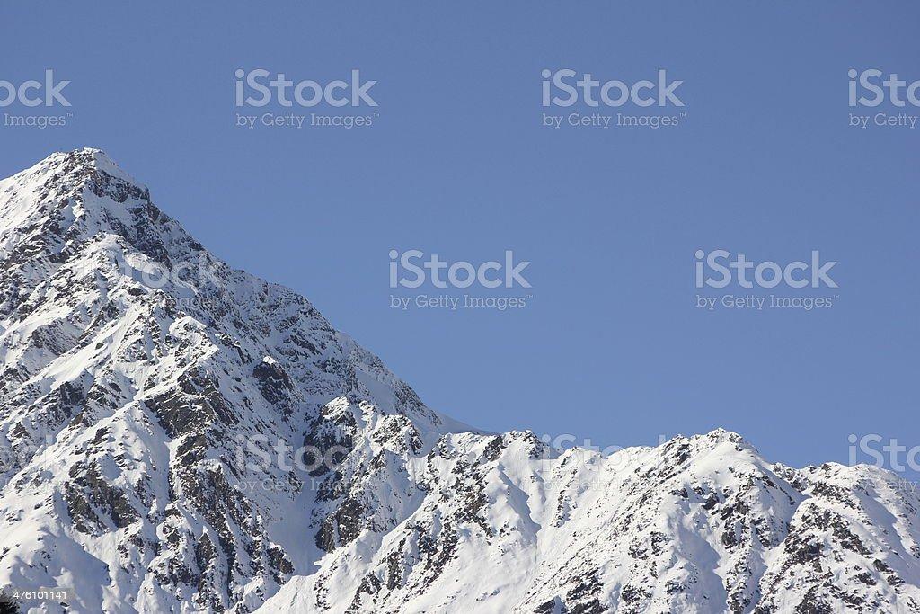 Winter Panorama, Mountain Peaks, Sellraintal, St. Sigmund, Tyrol, Austria royalty-free stock photo