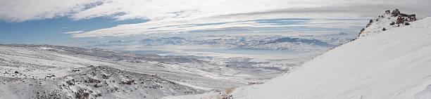 겨울맞이 파노라마 영상을 끼우개 아라랏 ascent 스톡 사진