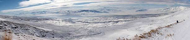 겨울맞이 파노라마 영상을 끼우개 아라랏 descent 스톡 사진