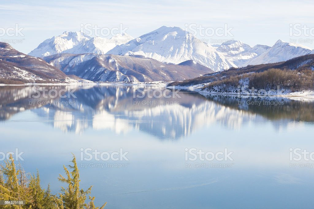 Winter paradise stock photo
