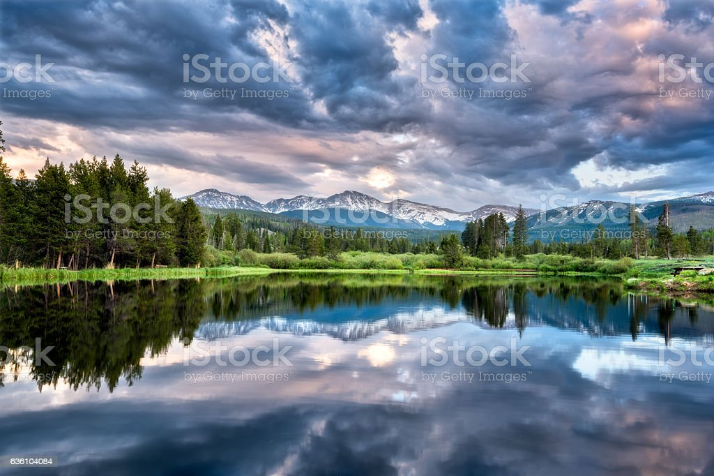 Winter Park Colorado stock photo