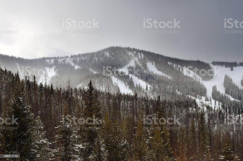 Winter Park Ski Area stock photo