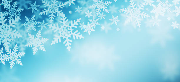winter - snowflake background stock pictures, royalty-free photos & images