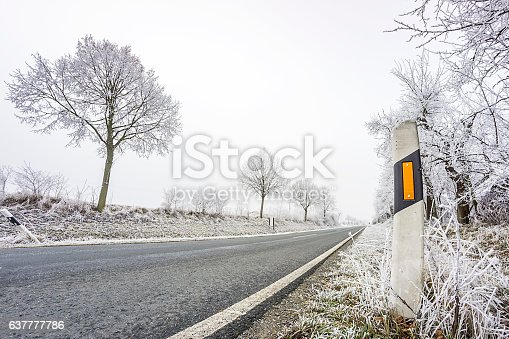 Country road in winter