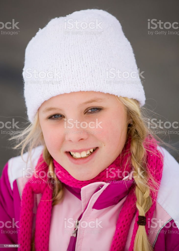 Winter Play stock photo