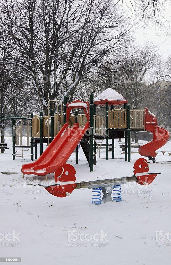 Winter Playground royalty-free stock photo