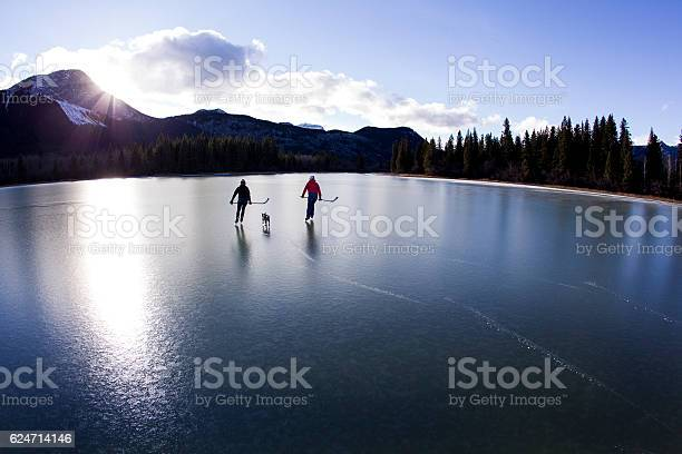 Photo of Winter Pond Ice Skate