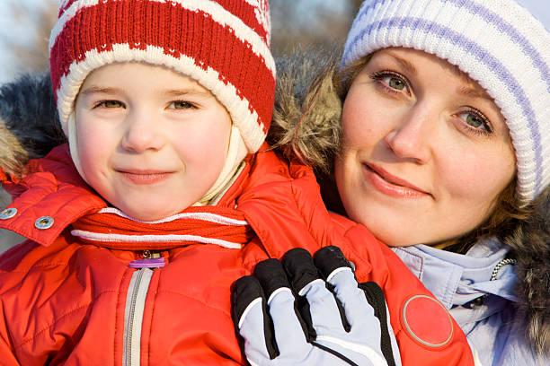 Winter-Porträt der Familie – Foto