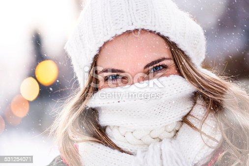 Beautiful girl smiling and posing