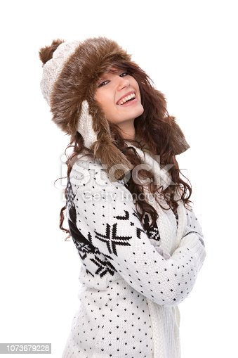 istock Winter portrait woman 1073679228