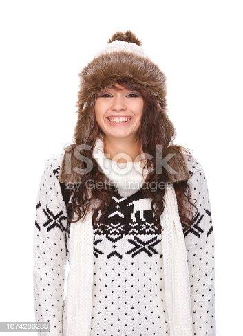 istock Winter portrait woman 1074286238