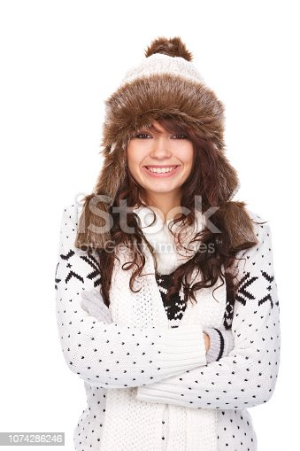 istock Winter portrait woman 1074286246