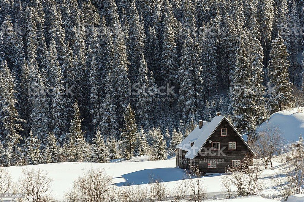 Winter Postacard royalty-free stock photo