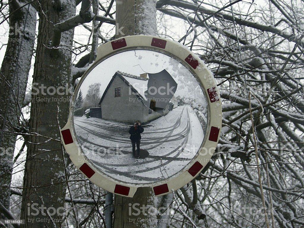Winter Reflection - royalty-free stock photo
