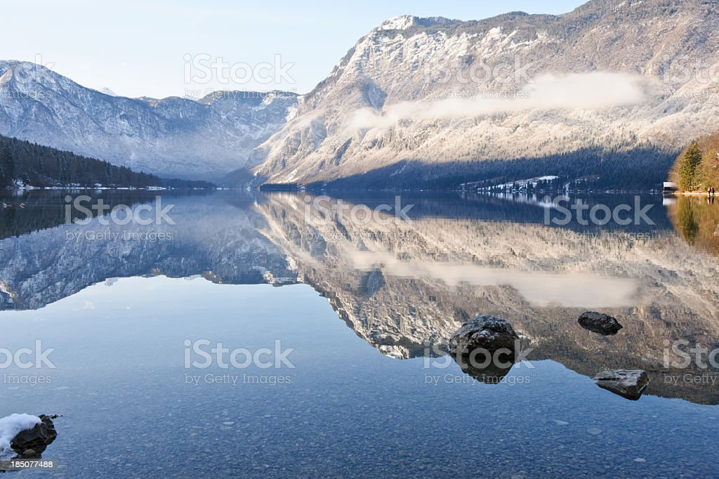 Winter reflection stock photo