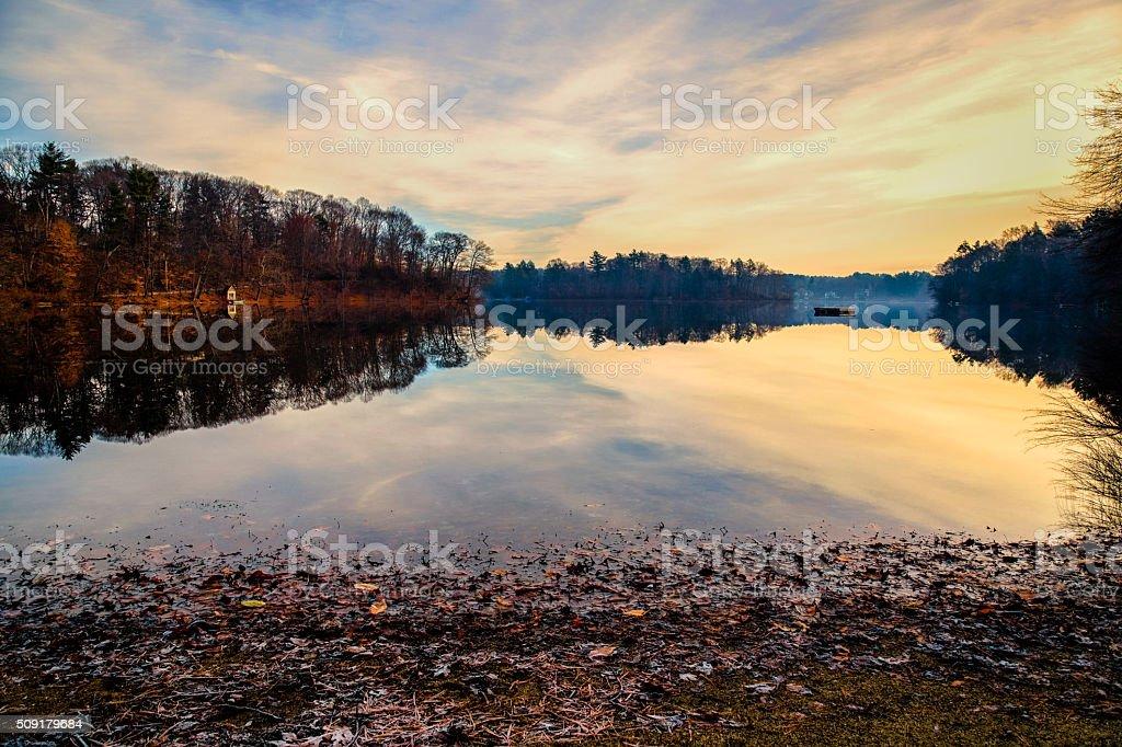 Winter Reflections stock photo
