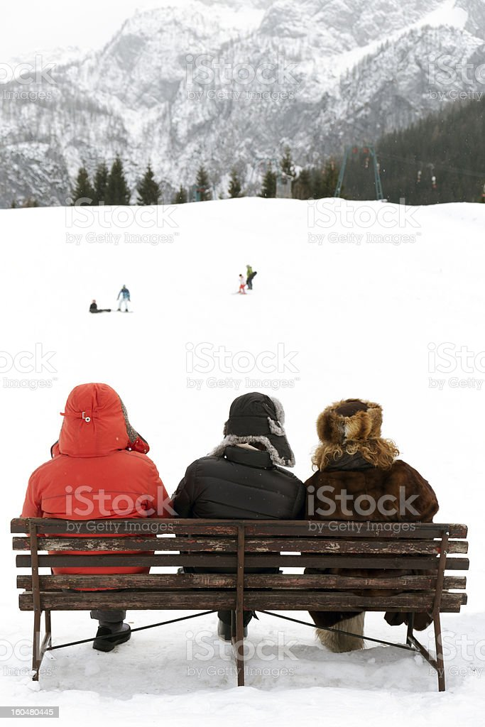 Winter relax. Color Image royalty-free stock photo