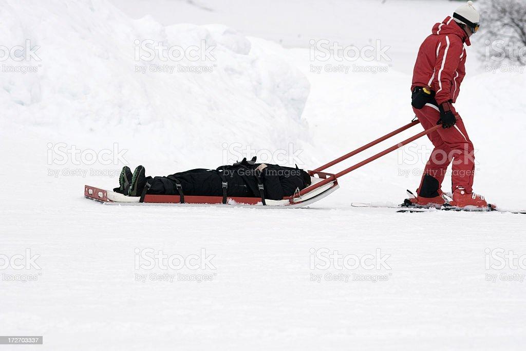 winter rescue stock photo