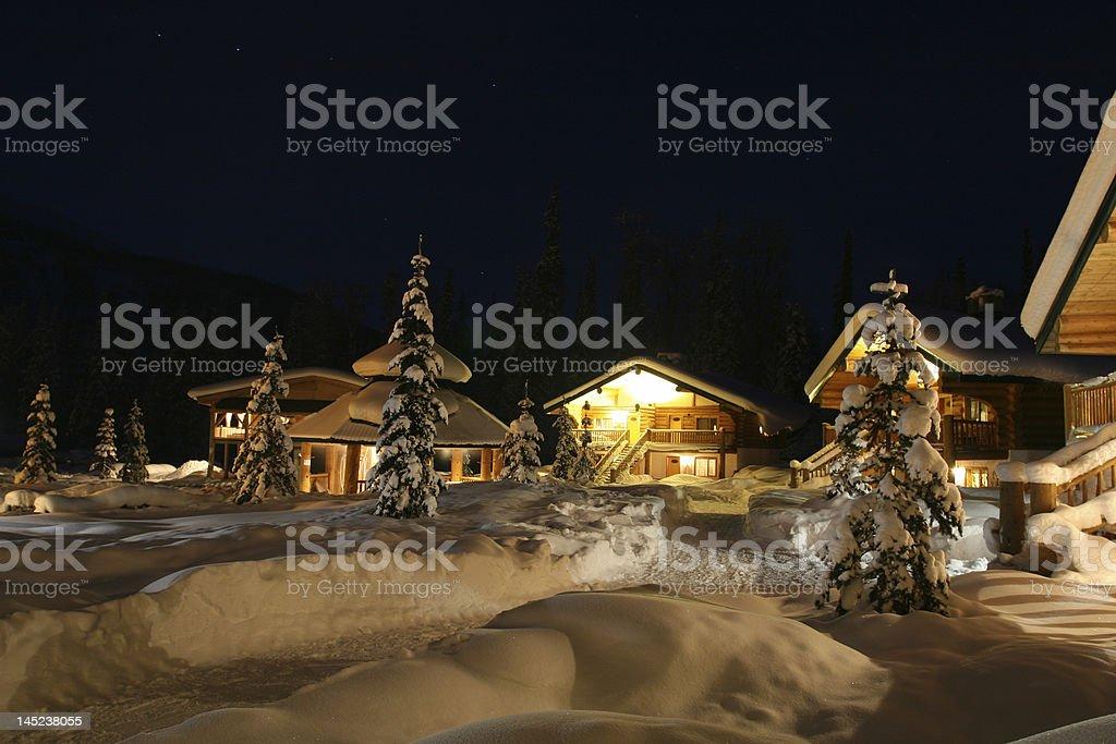 Winter Resort Community stock photo