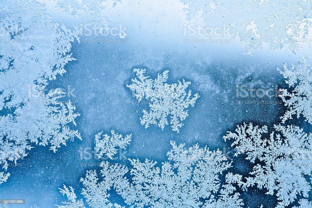winter rime background stock photo